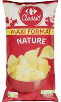 Chips nature maxi format Carrefour Classic
