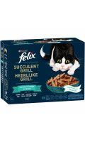 Succulent grill pour chat sélection de poissons Félix Purina