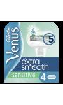 Lames de rasoirs Extra Smooth Sensitive X4 Gillette Venus