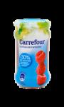 Confiture de framboises allégée Carrefour