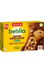 Barres moelleuses chocolat noisettes ou cranberries noisettes Belvita