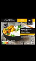 Plat cuisiné filet de poulet au curry et son riz basmati Madern