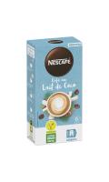 Préparation en poudre pour boisson au café instantané et à la noix de coco avec arômes nat