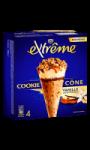 Glaces cônes goût cookie vanille & caramel Extrême Nestle