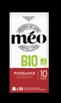 Café en capsules pur arabica intensité 10 Bio Méo