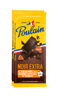 Tablette de chocolat noir extra caramel au beurre demi-sel d'Isigny Poulain