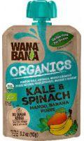 Organics kale spinach & mango banana puree Wanabana