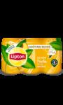 Thé glacé saveur pêche touche de miel en cannette Lipton