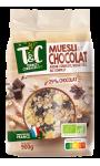 Muesli au chocolat avoine complète noisettes blé complet Terres & Céréales Bio