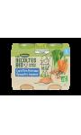 Plats de légumes Carottes Poireaux Epeautre Saumon Les Recoltes Bio Blédina