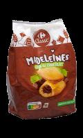 Madeleines coeur au chocolat Carrefour