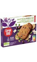 Galette de fèves, aubergines olives feta Cereal Bio