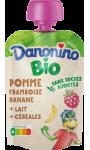 Bio Poche Pomme Framboise Banane Lait Céréales Danonino