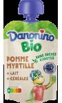 Bio Poche Pomme Myrtille Lait Céréales Danonino