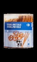 Biscuits apéritifs Sticks et Bretzels Carrefour Classic