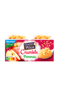 Crumble aux pommes Charles & Alice