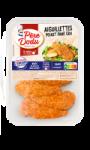 Les aiguilettes poulet pané cru Pere Dodu