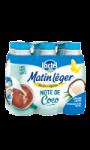 Lait Matin léger note de coco 6x1l Lactel