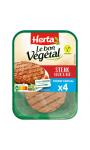 Le bon végétal steak de soja et blé Herta
