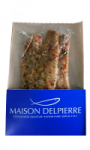 Filets de hareng fumés parsemés de millet, oignons et poivrons rouges Delpierre