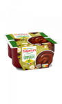 Dessert végétale crémeux saveur chocolat noisette Sojasun