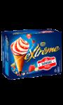 Glace cône extrême sundae fraise Nestle
