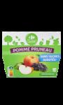Compotes pomme pruneau s/sucres ajoutés Carrefour Classic'