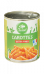Carottes extra-fines Carrefour Classic'
