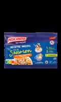 Plat cuisiné dès de saumon Recette Presto Pescanova
