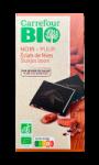 Chocolat noir fève de cacao bio Carrefour Bio