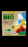 Desserts bio pomme banane s/sucres ajoutés Carrefour Bio