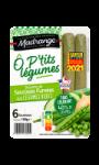 Ô P'tits légumes recette de saucisses fumées aux légumes verts Madrange