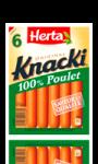 Saucisses au poulet Knacki Herta