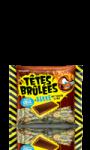 Bonbons barres goût cola Têtes Brulées Verquin
