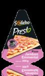 Pizza Presto Jambon Emmental Sodebo