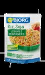Plat cuisiné riz, soja et légumes Bjorg