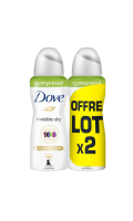 Dove Déodorant Femme Spray Invisible Dry Compressé Lot De 2X100ml