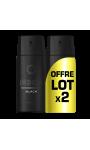 Axe Déodorant Parfumant Homme Spray Black Lot de 2 x 150ml