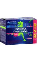 Tampons Compak Active Fresh Super avec applicateur x22 Tampax