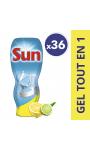 Sun Gel Lave-Vaisselle Tout En 1 Citron 720ml 36 Doses