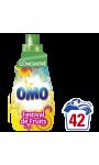 Omo Lessive Liquide Concentrée Festival De Fruits Et Fleurs D'Eté 1,47l 42 Lavages