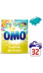 Omo Lessive Capsules Festival De Fruits Et Fleurs D'Eté 32 Dosettes