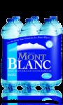 6 bouteilles d'Eau Minérale Naturelle Mont Blanc Eau