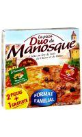 Pizza familiale duo (moitié royale/moitié 3 fromages) lot 2 + 1 gratuit La Pizza de Manosq