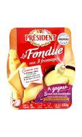 Fondue aux 3 fromages Président