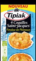 Coquilles Saint Jacques Fondue de Poireaux Tipiak