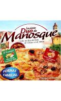 Pizza familiale duo (moitié royale/moitié 3 fromages) La Pizza de Manosque