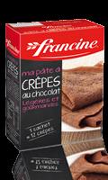 Préparation de crêpes au chocolat Francine