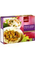 Plat cuisiné poulet/riz basmati Madern