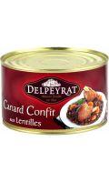 Plat cuisiné canard confit lentilles Delpeyrat